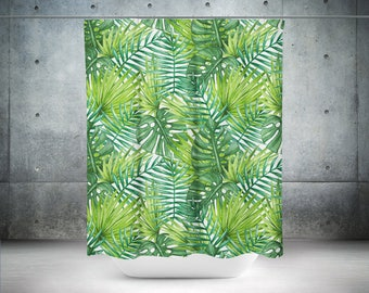Palm Shower Curtain | Palm Bath Curtain | Palm Bathroom Décor | Palm Bath Décor | Palm Shower Décor | Palm Décor | Palm Bathroom Décor