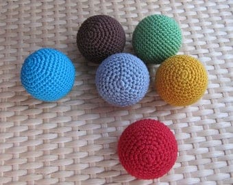 pet toy crochet play balls for puppies cats gift kittens new pet gift puppy ball cat toys cotton ball ferret toy gift for pet set rattle