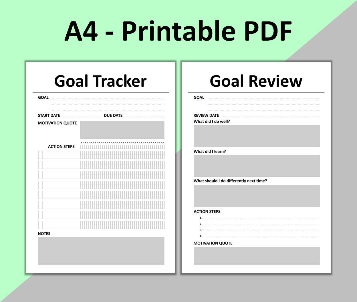 It is an image of Hilaire Printable Goal Tracker