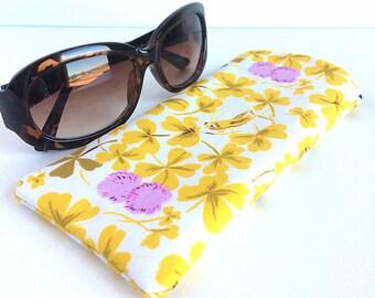 Padded Sunglass Case - Sunglass Holder - Eyeglass Pouch - Cute Sunglass Case - Eyeglass Case
