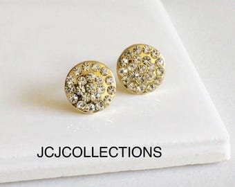 Minimal Circle CZ Stud Earrings