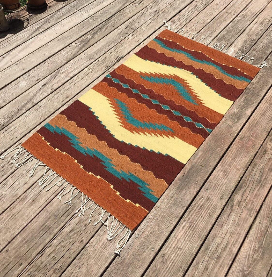 Zapotec Floor Rug 60 X 30 Inches Created With