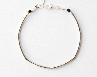 Minimalistic simple Tube Bracelet