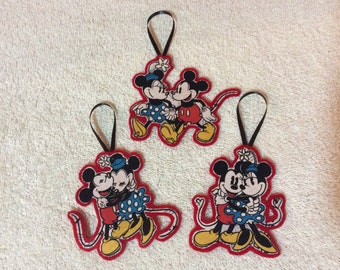 Mickey and Minnie Mouse Ornaments-Set of 3!!!