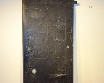 Industrial Fire Door metal skin - Industrial Desk Top conversion Black