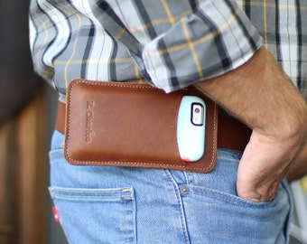 Personalized Christmas Gift - The No. 1 Fine Leather Phone Holster for OtterBox SYMMETRY SERIES Case for iPhone 6/6s/7 - Gifts for Him