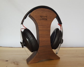 Walnut Headphone Holder