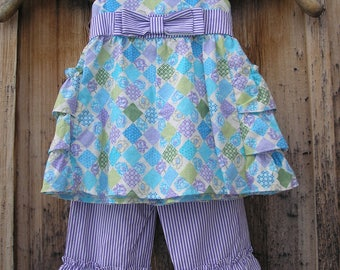 Pinafore with Ruffled Pants