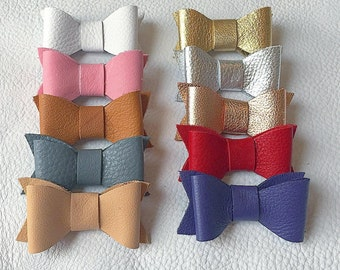 Leather Clip Bows