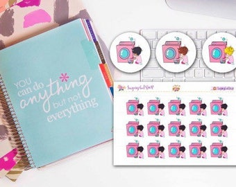 Lady D Does Laundry Day Planner Stickers
