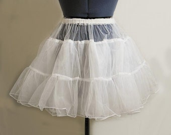 """White  Organza Petticoat, 17"""" or 25"""" Fits Perfectly Underskirt ,"""