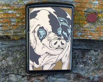 Zippo Vintage Lighter the Pig from the Barrett Smythe Collection