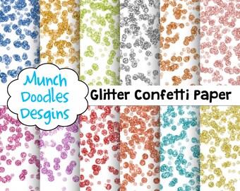Glitter Confetti Digital Paper, Digital Scrapbook Paper, Glitter Confetti clipart