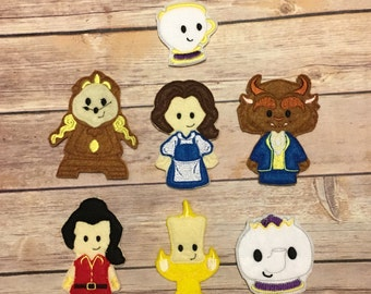 Rose Princess and Beast Finger Puppets