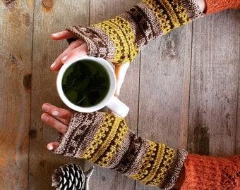 Fingerless gloves | Long Arm Warmers | Wool Arm Warmers | Gloves | Handmade | Wrist warmers | Mittens