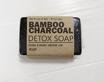 Activated bamboo charcoal detox soap  charcoal vegan soap  soap handmade soap natural soap Thai spa soap