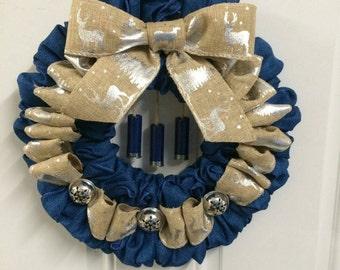 Jingle Bells and Shotgun Shells: blue and silver