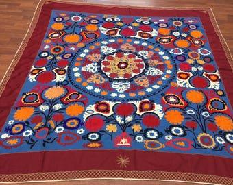 Vintage Uzbeck Suzani embroidery