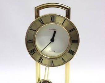 Seiko desk clock, pendulum clock quartz