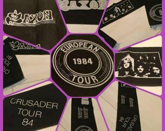 Saxon , ' 84 crusader european tour 1984 !! vintage scarf, a real fetish !!