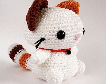 PATTERN - Cat crochet pattern, Coconut the cat, Amigurumi pattern, Plush crochet pattern, Plush toy, Animal, Kitten