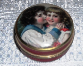 Vintage Engligh Chambers Candy Company Ltd Tin With Strawberry Flavoured Candies Designed By Christopher Brookes 1980s