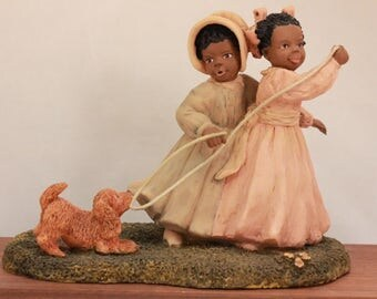"""Miss Martha's Collection by Enesco. Belle & Mazie. """"Not Now, Muffin"""" in Original Box with Certification. 443204"""