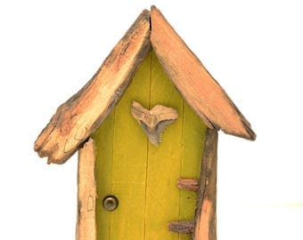 Moss Fairy Door, Natural, Eco-Friendly, Wooden, Handmade, Gifts for Everyone