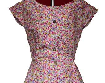 Garland Peplum Blouse - 1940's reproduction Blouse