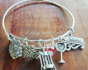 Wine Charm Bracelet