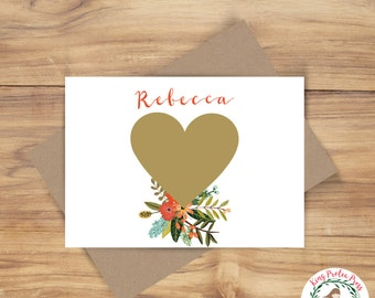 Custom Scratch Off Card - Perfect for bridesmaid proposal or pregnancy reveal