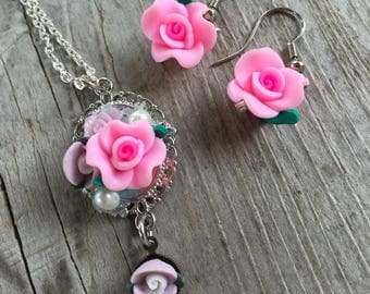 Children's rose jewelry set