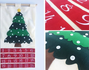 Advent Calendar - Use your OWN ornaments! - SHIPS same day as ordered!