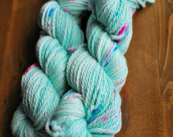 Cotton Candy, Hand Dyed Yarn, SW Bulky