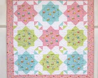 Snuggle Time baby Quilt by Lilabelle Lane Creations
