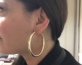 Hoops earring, Metal Earring, Gold filled earring, Brass earring, Gold hoops