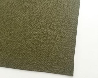 Olive Textured Faux Leather, Vinyl, Leatherette, Green, Vegan Leather, Hair Bow, Fake Leather, Faux Leather Sheet, Olive Leather, Olive