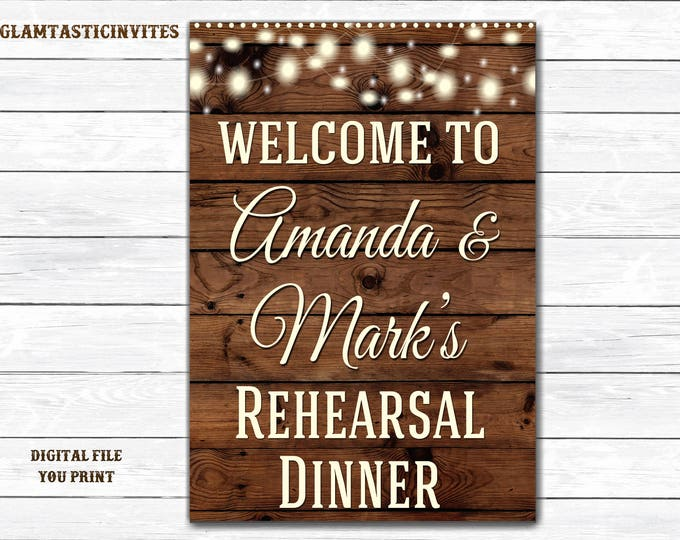 Rehearsal Dinner Welcome sign, Rustic Sign, Rustic Wedding Sign, Shower Sign, Baby Shower Sign, Mason Jar Welcome, Digital Sign, Rehearsal