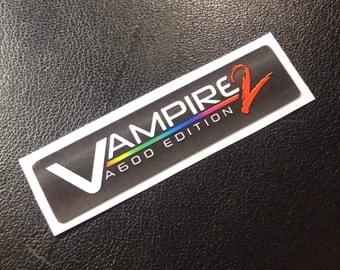 VAMPIRE Accelerator Commodore Amiga Label / Aufkleber / Sticker / Badge / Logo 4,9 x 1,2cm [335e]