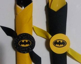 12ct Batman cutlery set ,Birthday party decor