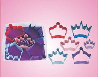 Colored Crown Cookie Cutter Set