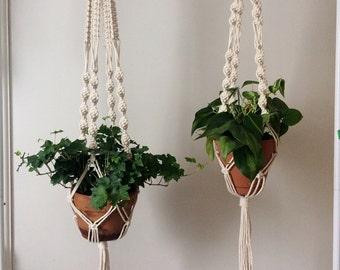 Macrame Plant Hanger Set
