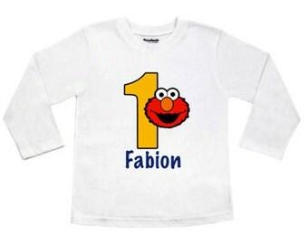 Elmo Birthday Shirt, Elmo Shirt, Birthday Shirt, Sesame Street Birthday Shirt, Sesame Street Birthday, Elmo, Birthday Shirt