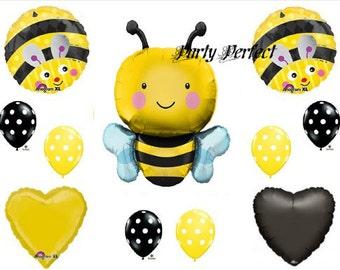 11 Pc Bumble Bee Balloon Bouquet Party Decorations Favors Centerpiece11