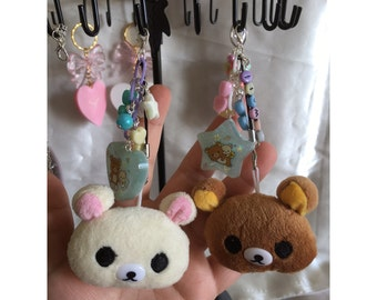 Kawaii bear phone charms