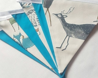 Colourful Coodland Creature Bunting, Playroom Bunting, Kids Room Decor - Ready for Dispatch
