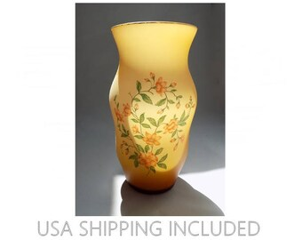 Norleans Vase Hand Made in Italy Cased Satin Glass Tall and Curvy