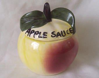 Toni Raymond Apple Sauce Pot - Apple Shaped Apple Sauce Pot c.1970