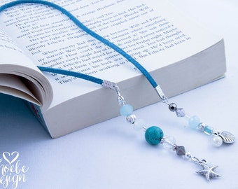 Turquoise & the Sea Beaded Book Mark