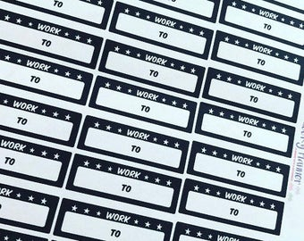 36 BLACK and WHITE Work shifts colour variant 4 schedule planning stickers  happy planner filofax